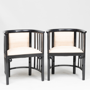 Pair of Thonet Lacquer Armchairs