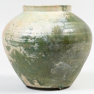Green Glazed Pottery Jar