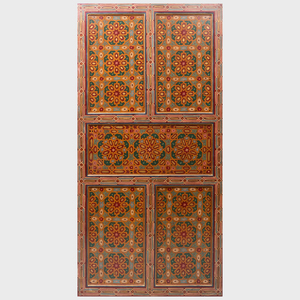 Pair of Moroccan Painted Doors, Zouak