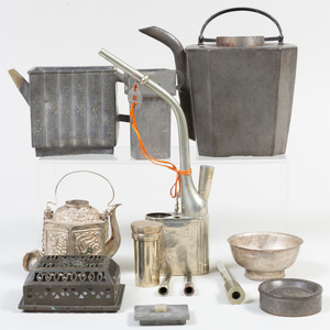 Group of Chinese Metal Tea Articles