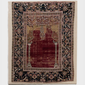 Egyptian Ottoman Cairene Prayer Rug