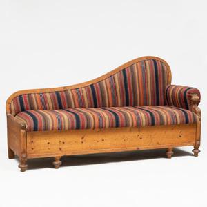 Swedish Provincial Pine Sofa With Drawer