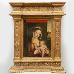 Attributed to Luca Longhi (1507-1580): Madonna and Child