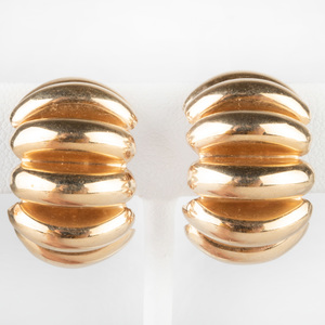 Pair of 14k Gold Earclips