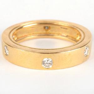 Boucheron 18k Gold and Diamond Band Ring
