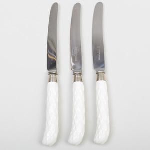 Set of Twelve English Porcelain Handled Knives, After Syrie Maugham
