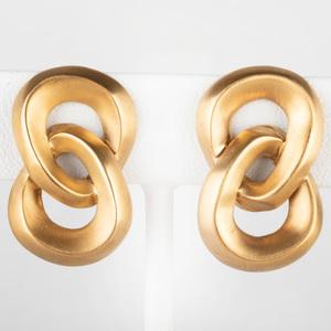 Pair of Angela Cummings 18k Gold Earclips