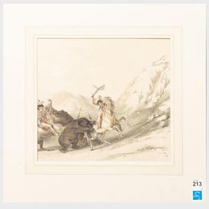 George Catlin (1796-1872): North American Indian Portfolio: Three Plates