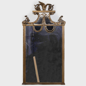 Large Continental Neoclassical Style Giltwood Mirror