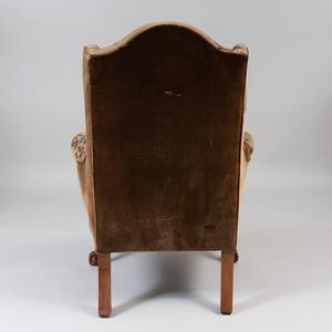 George II Walnut Wing Chair