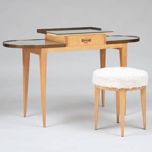 Attributed to Eugène Printz Dressing Table and Tabouret