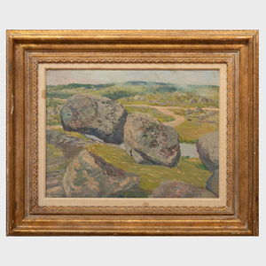 William Starkweather (1879-1969): The Great Rocks at Peggy's Cove