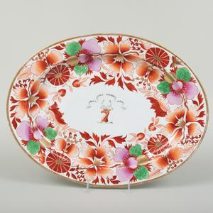 English Porcelain Armorial Platter, Probably Barr, Flight & Barr