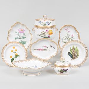 Derby Porcelain Botanical Part Dessert Service