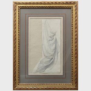 Henri Lehmann (1814-1882): Drapery Study