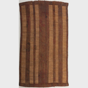 Large Mauritanian Woven Reed and Leather Mat, Tuareg