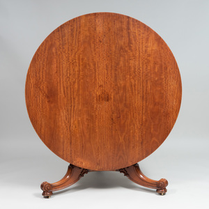 Early Victorian Satinwood Tilt Top Center Table