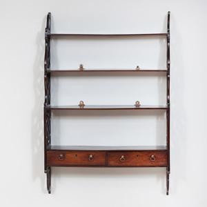 George III Mahogany Hanging Shelf