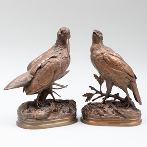 Alfred Dubucand (1828-1894):  Two Grouse