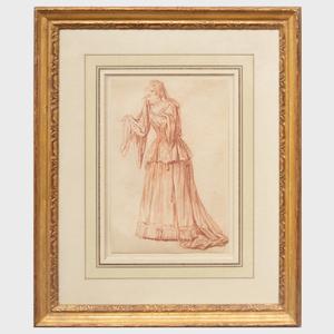 Circle of Antoine Watteau (1684-1721): Weeping Actress