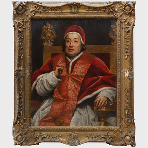 Studio of Anton Raphael Mengs (728-1779): Portrait of Pope Clement XIII