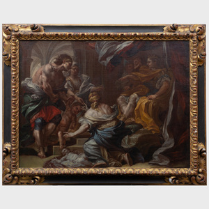 Circle of Corrado Giaquinto (1703-1766): The Judgement of Solomon