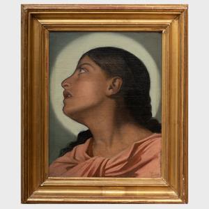 Henri Lehmann (1814-1882): Head of an Angel