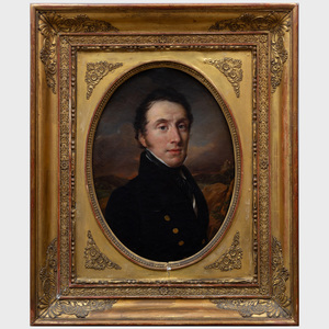 Alexandre Hesse (1806-1879): Portrait of a Gentleman