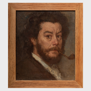 Attributed to Marcellin-Gilbert Desboutin (1823-1902): Self Portrait