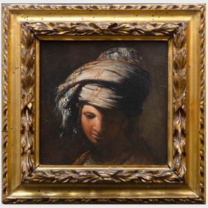Neapolitan School: Portrait Study of a Boy in a Turban