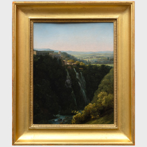 Auguste Jean Baptiste Vinchon (1887-1855): The Falls at Tivoli with the Stables of Maecenas