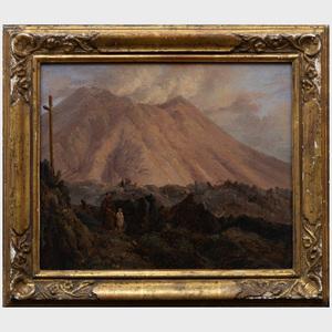 Achille Michallon (1796-1822): Landscape with Monk and Boy