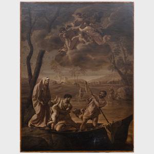 Circle of Nicolas Colombel (1644-1717): Flight into Egypt