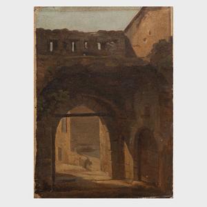 Jean Antoine Constantin d'Aix (1756-1844): Roman Street Scene