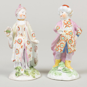 Pair of Bow Porcelain Turkish Figures