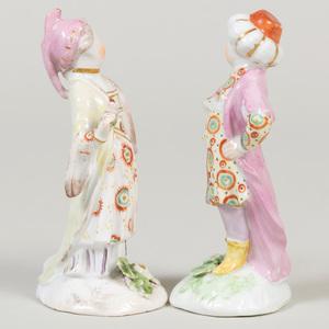 Pair of Bow Porcelain Turkish Figures