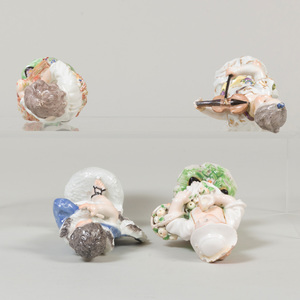 Group of Three Bow or Chelsea Porcelain Figures