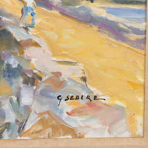 Gaston Sebire (1920-2001): Sortie du Port de Guistehey
