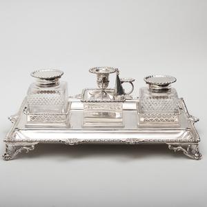 Edward VII Silver Inkstand