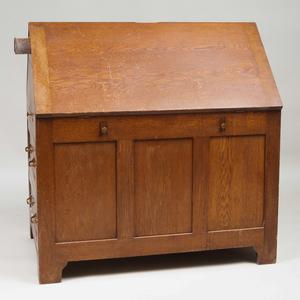 American Oak Partner's Desk