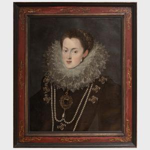 Northern European School: Portrait of a Lady in a Lace Ruff