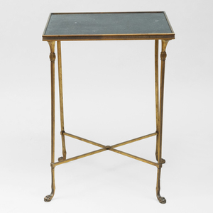 Directoire Style Gilt-Metal and Marble Side Table