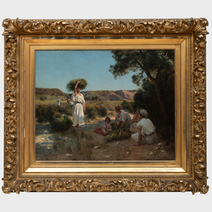 Jean Baptiste Paul Lazerges (1845-1902): Gleaners Resting in the Shade