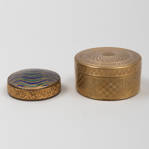 Two Continental Gilt-Metal Snuff Boxes