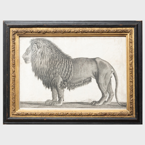 English School: A Pair of Lions: and Zebra