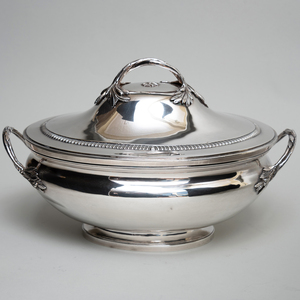 French Silver Tureen and Cover