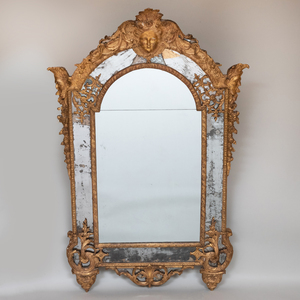 Fine Régence Giltwood Mirror