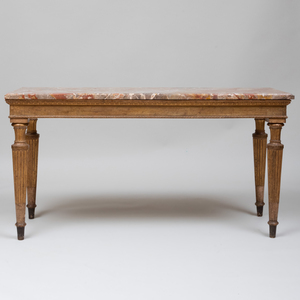 North Italian Neoclassical Style Giltwood Console, Turin
