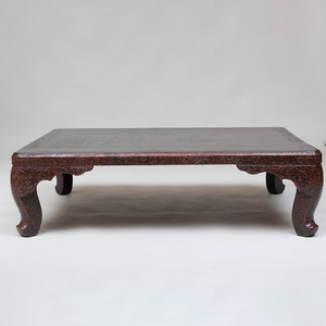 Chinese Black Lacquer and Mother-of-Pearl Inlaid Low Table