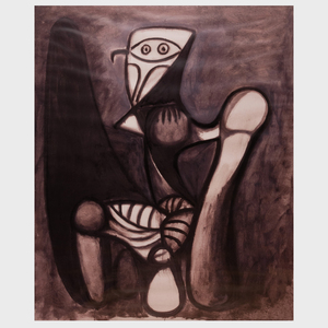 After Pablo Picasso (1881-1973): Tete; and Crouching Woman